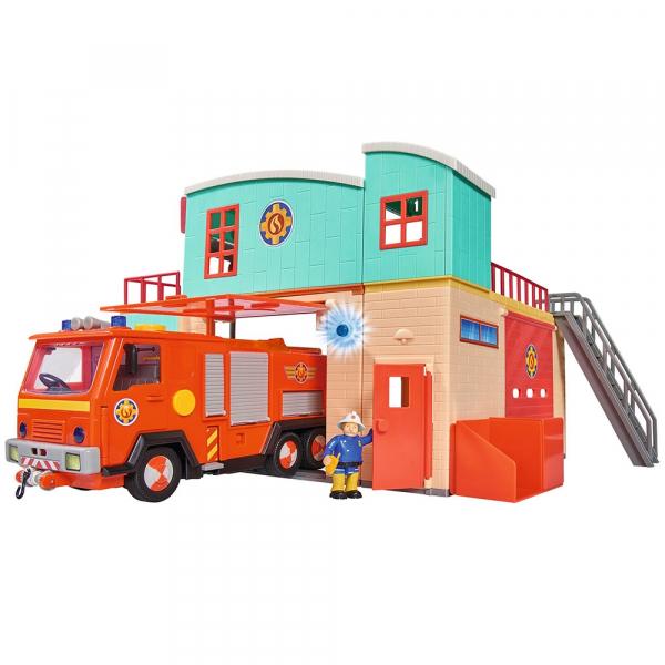 Jucarie Dickie Toys Statie de pompieri Fireman Sam cu figurina si accesorii 9