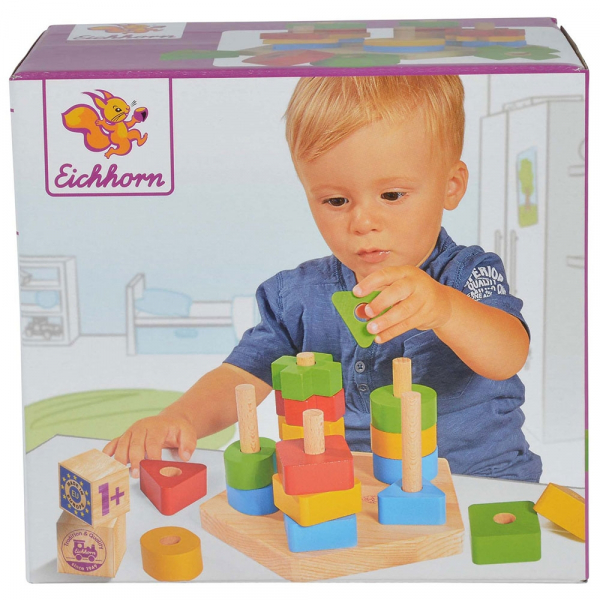 Jucarie din lemn Eichhorn Stacking Toy 2