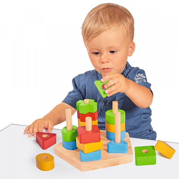 Jucarie din lemn Eichhorn Stacking Toy 1