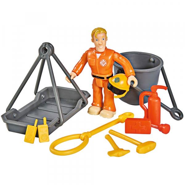 Jucarie Simba Elicopter Fireman Sam Wallaby 2 cu figurine si accesorii 4