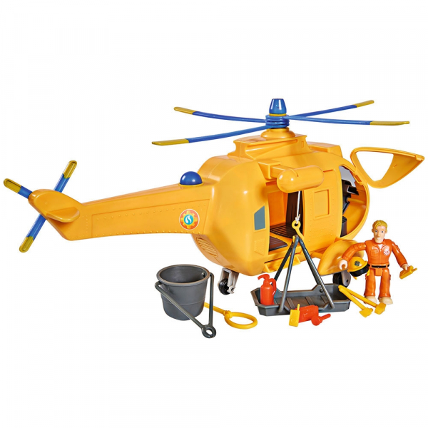 Jucarie Simba Elicopter Fireman Sam Wallaby 2 cu figurine si accesorii 1