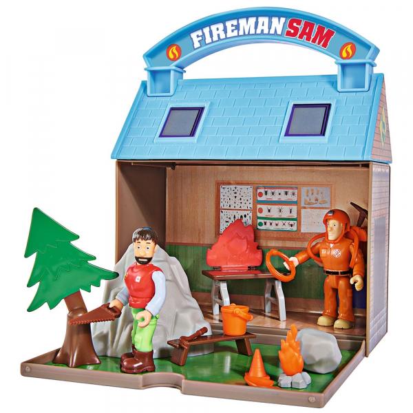 Jucarie Simba Statie montana Mountain Activity Centre Fireman Sam Bergstation cu 2 figurine si accesorii [0]