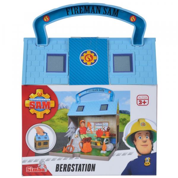 Jucarie Simba Statie montana Mountain Activity Centre Fireman Sam Bergstation cu 2 figurine si accesorii [3]