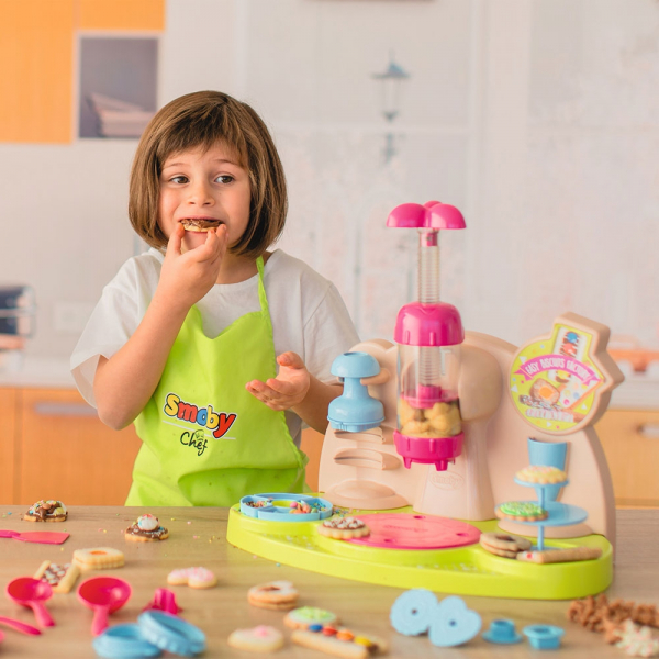 Jucarie Smoby Aparat pentru preparare biscuiti Chef Easy Biscuits Factory cu accesorii [10]