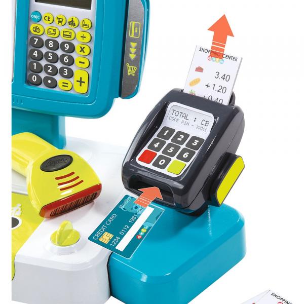 Jucarie Smoby Casa de marcat Large Cash Register albastru cu accesorii [3]