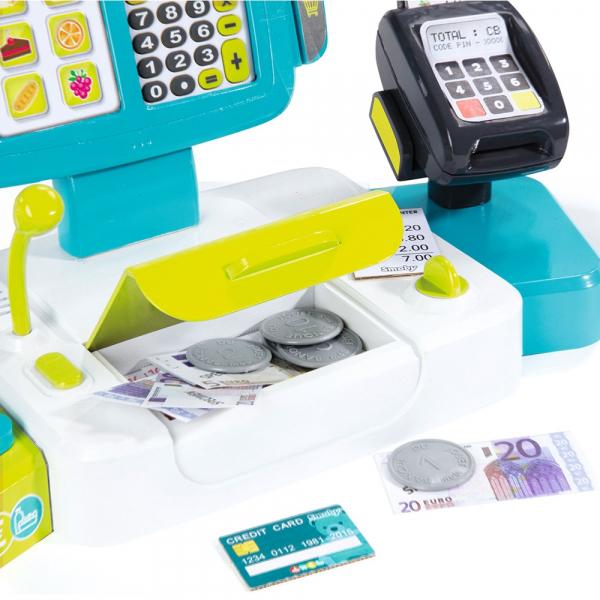 Jucarie Smoby Casa de marcat Large Cash Register albastru cu accesorii [4]