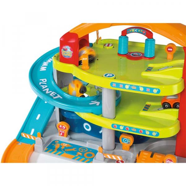 Jucarie Smoby Garajul mare Vroom Planet cu 1 masinuta 7