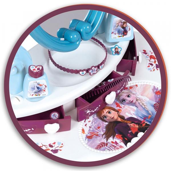 Jucarie Smoby Masuta de machiaj Frozen 2 2 in 1 cu accesorii 2