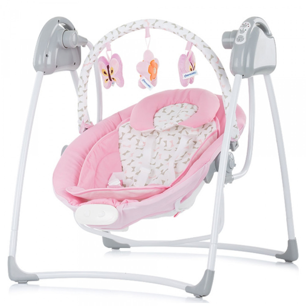 Leagan electric si balansoar Chipolino Paradise pink ribbon 0