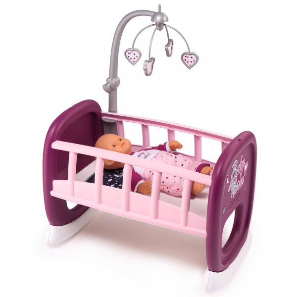 Leagan pentru papusa Smoby Baby Nurse mov cu carusel [0]