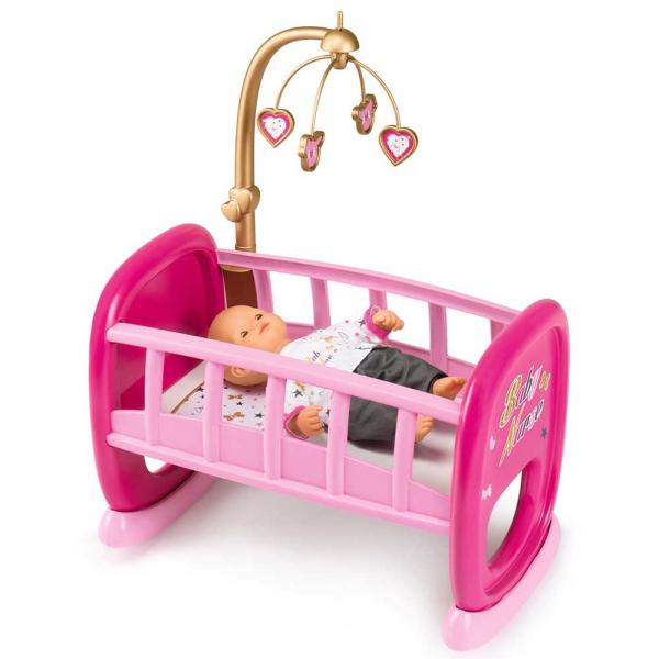 Leagan pentru papusa Smoby Baby Nurse roz cu carusel [0]