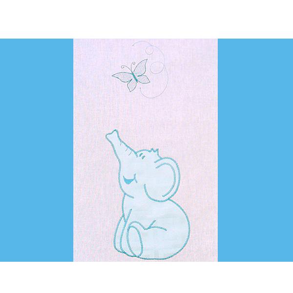 Lenjerie patut cu broderie Hubners Elefant 4 piese albastru [1]