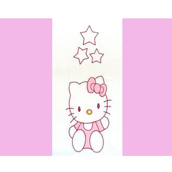 Lenjerie patut cu broderie Hubners Kitty 4 piese roz [1]