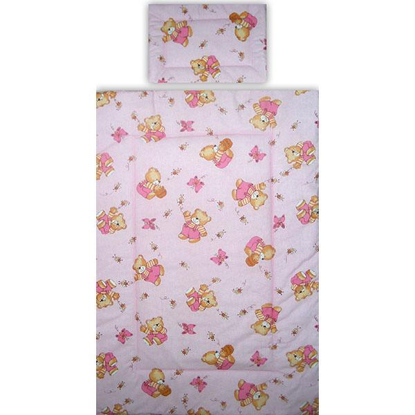 Lenjerie patut Hubners Ursulet cu albinute 5 piese roz 2