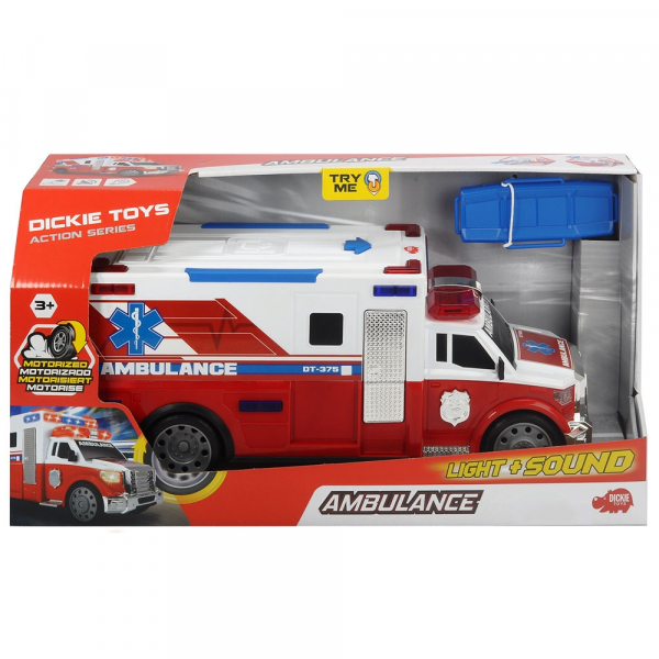 Masina ambulanta Dickie Toys Ambulance DT-375 cu accesorii 2