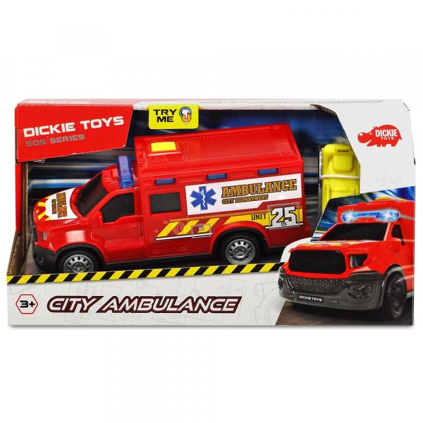 Masina ambulanta Dickie Toys City Ambulance Unit 25 cu accesorii [1]