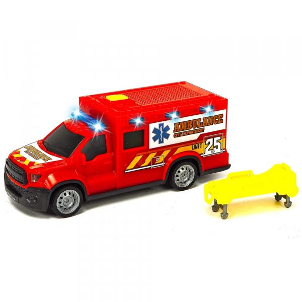 Masina ambulanta Dickie Toys City Ambulance Unit 25 cu accesorii [0]