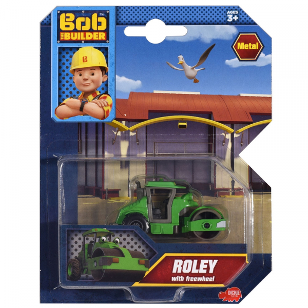 Masina cilindru compactor Dickie Toys Bob Constructorul Roley 1