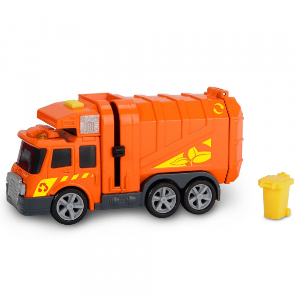 Masina de gunoi Dickie Toys Mini Action Series City Cleaner portocaliu 0