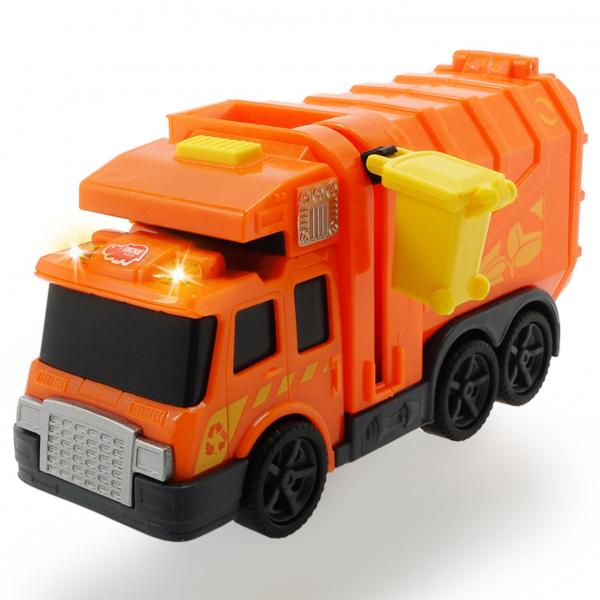 Masina de gunoi Dickie Toys Mini Action Series City Cleaner portocaliu [2]