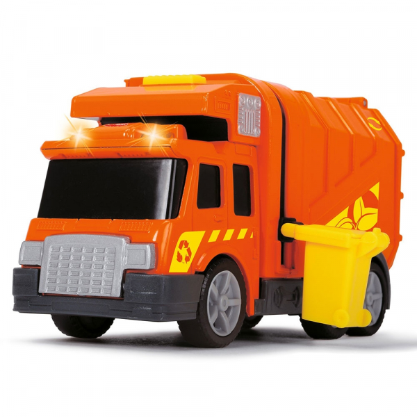 Masina de gunoi Dickie Toys Mini Action Series City Cleaner portocaliu 1