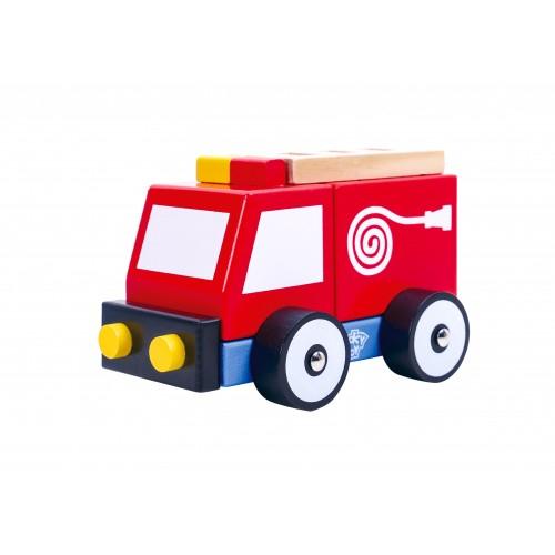 Masina de Pompieri colorata de lemn [0]