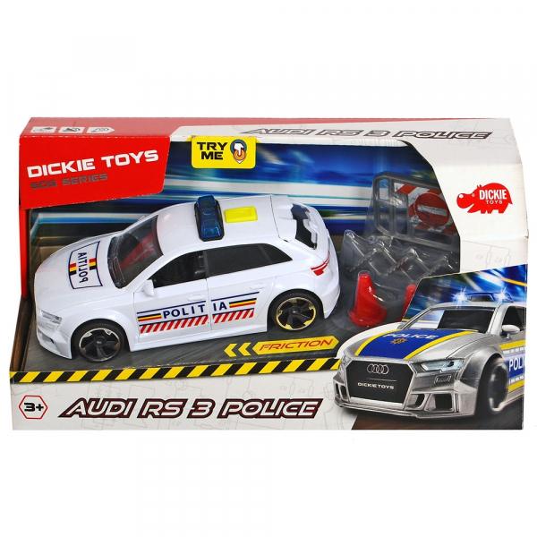 Masina de politie Dickie Toys Audi RS3 cu accesorii [1]