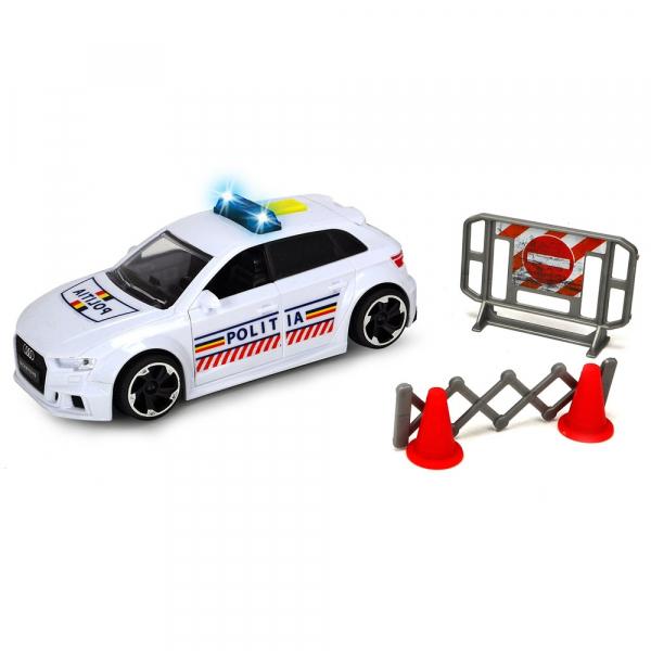 Masina de politie Dickie Toys Audi RS3 cu accesorii [0]