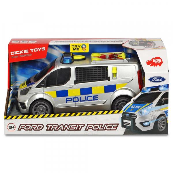 Masina de politie Dickie Toys Ford Transit 4
