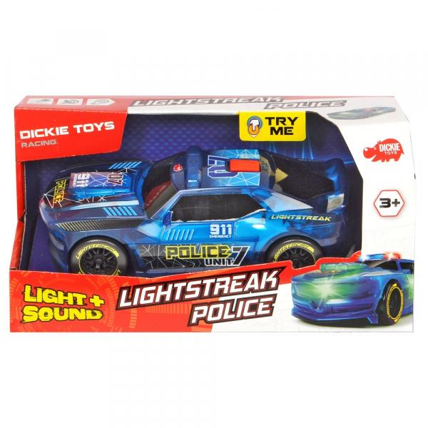 Masina de politie Dickie Toys Lightstreak Police cu sunete si lumini 2