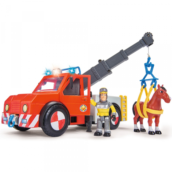 Masina de pompieri Simba Fireman Sam Phoenix cu figurina, cal si accesorii [0]