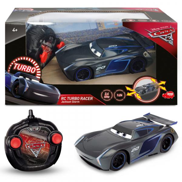 Masina Dickie Toys Cars 3 Turbo Racer Jackson Storm cu telecomanda 2