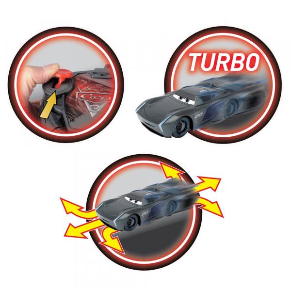 Masina Dickie Toys Cars 3 Turbo Racer Jackson Storm cu telecomanda 1
