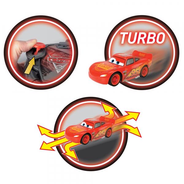Masina Dickie Toys Cars 3 Turbo Racer Lightning McQueen cu telecomanda [1]
