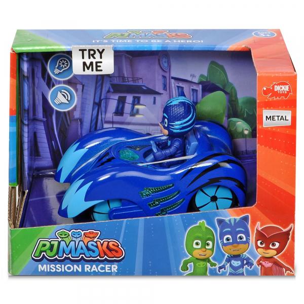 Masina Dickie Toys Eroi in Pijama Mission Racer Cat-Car cu figurina 1