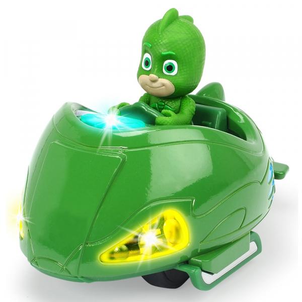 Masina Dickie Toys Eroi in Pijama Mission Racer Gekko cu figurina 0