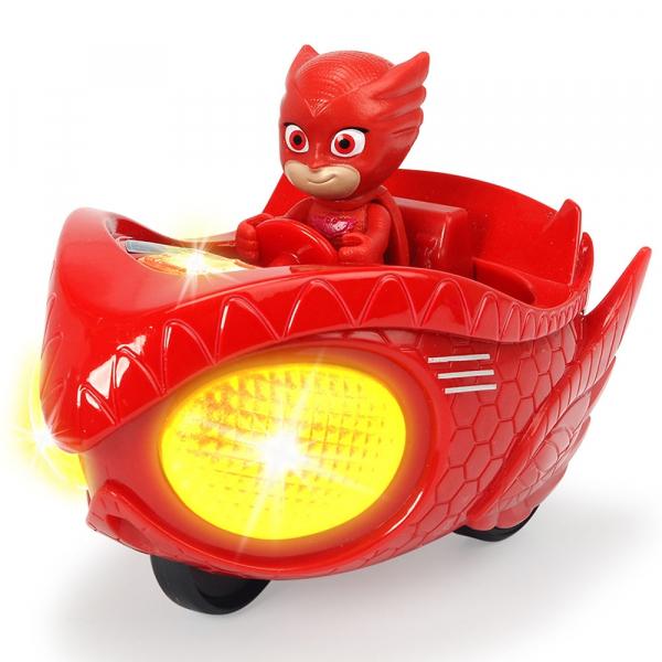 Masina Dickie Toys Eroi in Pijama Mission Racer Owlette cu figurina 0