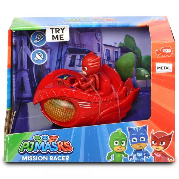 Masina Dickie Toys Eroi in Pijama Mission Racer Owlette cu figurina 1
