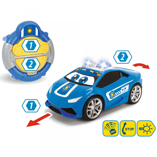 Masina Dickie Toys Happy Police Lamborghini Huracan cu telecomanda 1