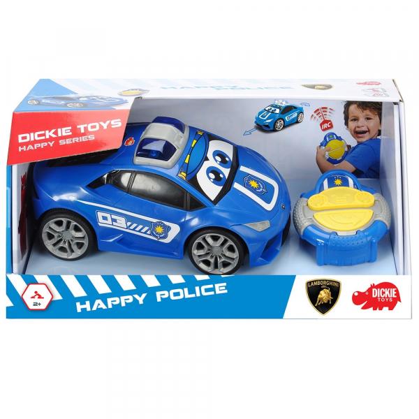 Masina Dickie Toys Happy Police Lamborghini Huracan cu telecomanda 13