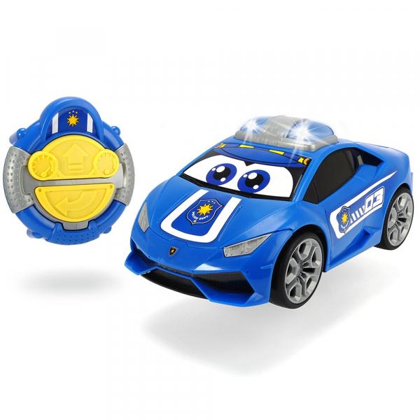 Masina Dickie Toys Happy Police Lamborghini Huracan cu telecomanda 0