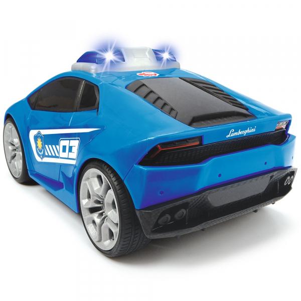 Masina Dickie Toys Happy Police Lamborghini Huracan cu telecomanda 2