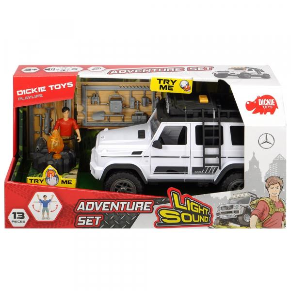 Masina Dickie Toys Playlife Adventure Set cu figurina si accesorii 8