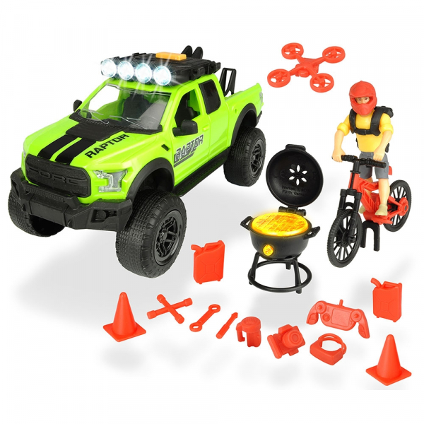 Masina Dickie Toys Playlife Bike Trail Set cu figurina si accesorii [0]