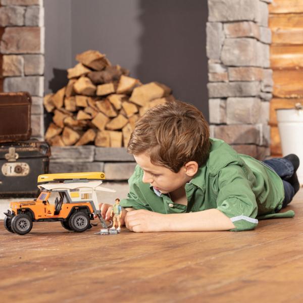 Masina Dickie Toys Playlife Camping Set cu figurina si accesorii [5]