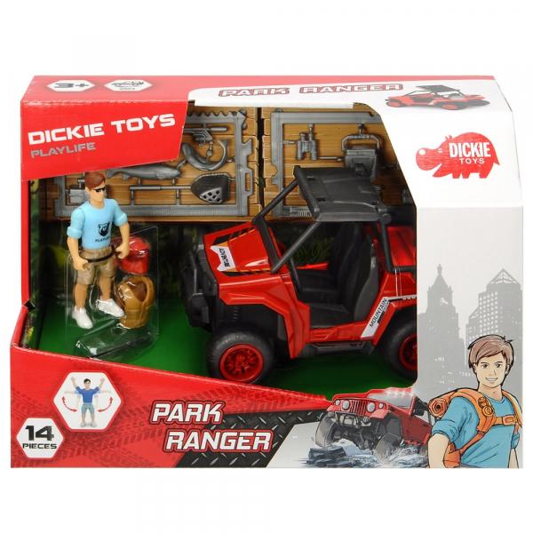 Masina Dickie Toys Playlife Park Ranger cu figurina si accesorii 5