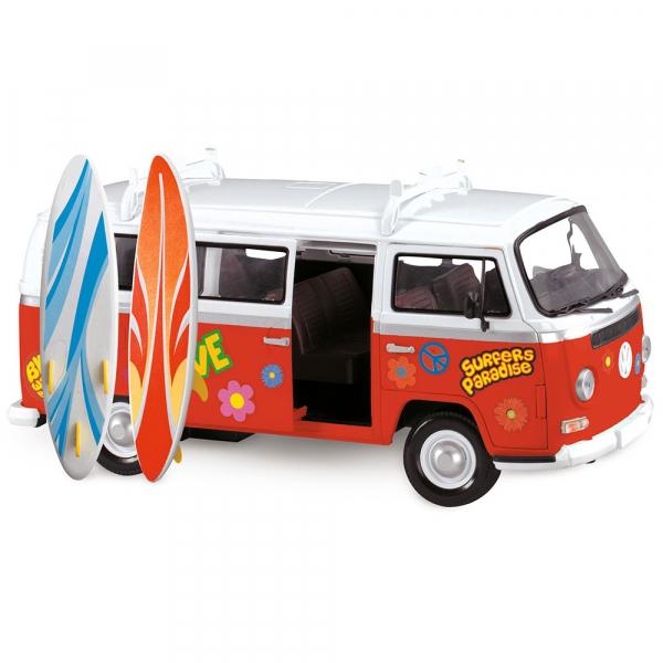 Masina Dickie Toys Volkswagen Surfer Van cu accesorii 3