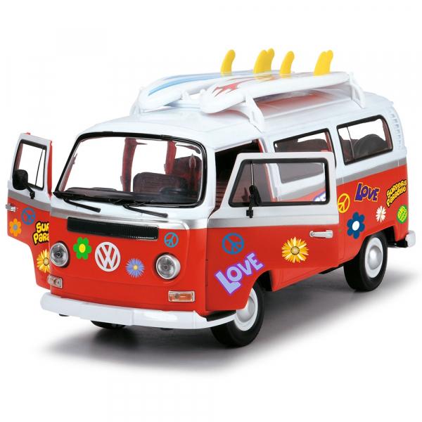 Masina Dickie Toys Volkswagen Surfer Van cu accesorii 0