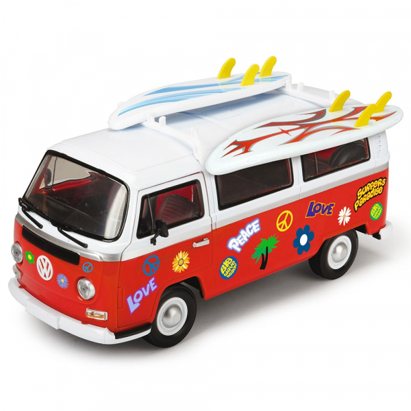 Masina Dickie Toys Volkswagen Surfer Van cu accesorii 4