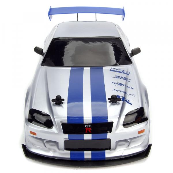 Masina Jada Toys Fast and Furious Nissan Skyline GTR Drift cu anvelope si telecomanda 8